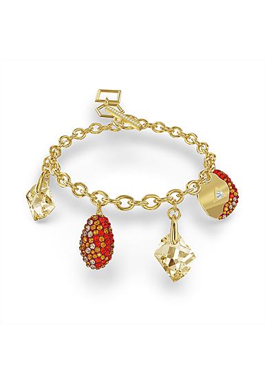 Swarovski The Elements Bracelet, Red, Gold Tone Plated
