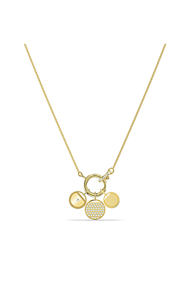 Swarovski Ginger Charm Necklace, White, Gold Tone Plated