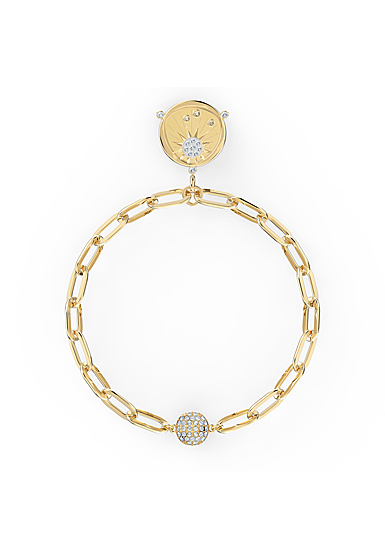 Swarovski The Elements Sun Bracelet, White, Gold Tone Plated