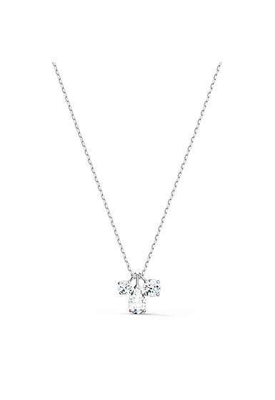 Swarovski Attract Cluster Pendant Necklace, White, Rhodium Plated