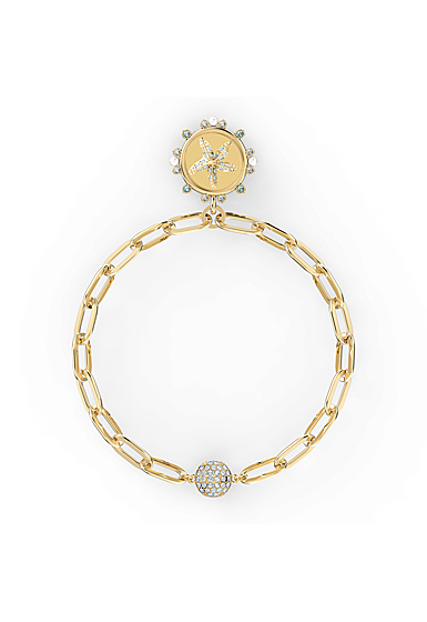 Swarovski The Elements Star Bracelet, White, Gold Tone Plated