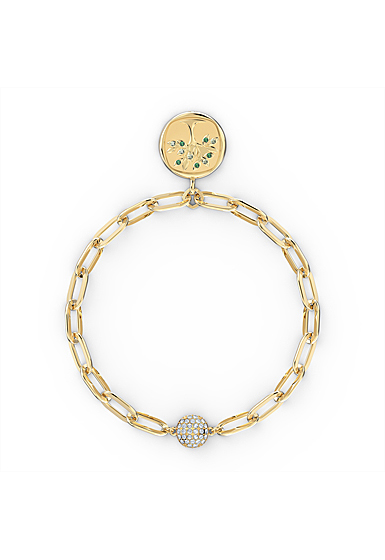 Swarovski The Elements Tree Bracelet, Green, Gold Tone Plated