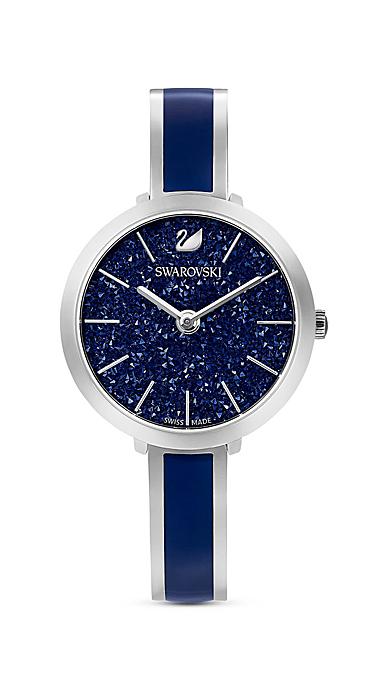 Swarovski Watch Crystalline Delight Stainless Case, Bangle Blue Enamel