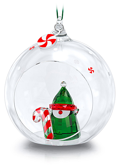 Swarovski Holiday Cheers Santas Elf Ball Ornament