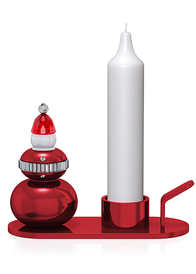 Swarovski Holiday Cheers Candle Holder Santa Claus