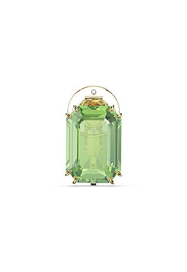 Swarovski Millenia Clip Earring Single, Green, Gold-Tone Plated