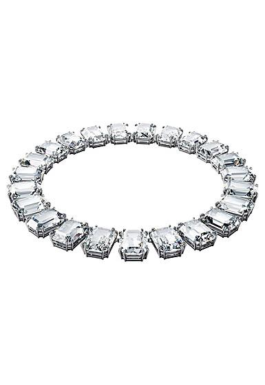 Swarovski Millenia Necklace, Octagon Cut Crystals, White, Rhodium Plated