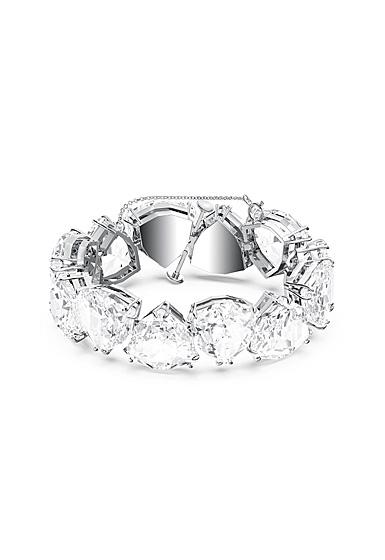 Swarovski Millenia Bracelet, Triangle Cut Crystals, White, Rhodium Plated