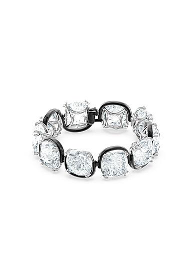 Swarovski Harmonia Bracelet, Cushion Cut Crystals, White, Mixed Metal Finish