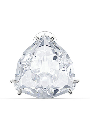 Swarovski Mesmera Clip Earring Single, Triangle Cut Crystal, White, Rhodium Plated