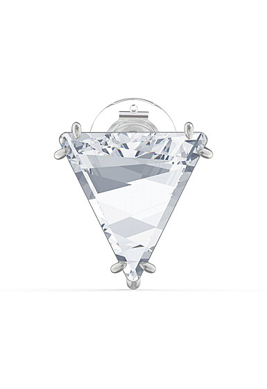 Swarovski Mesmera Clip Earring Single, Delta, White, Rhodium Plated