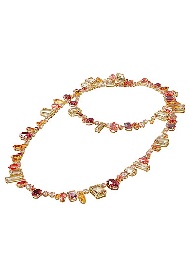 Swarovski Gema Necklace, Extra Long, Multicolored, Gold-Tone Plated