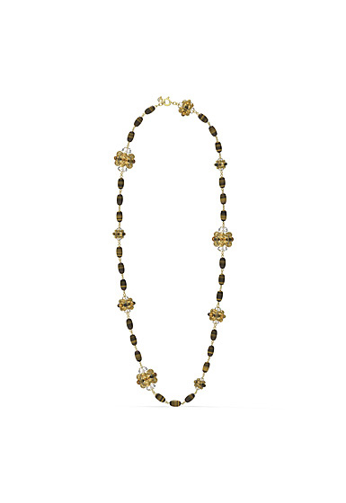 Swarovski Somnia Necklace, Brown, Gold-Tone Plated