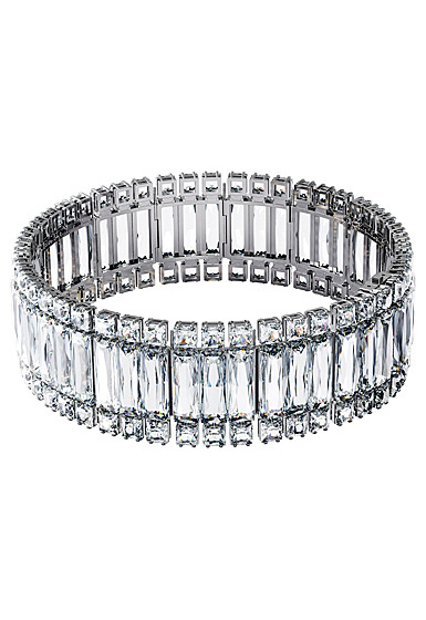 Swarovski Hyperbola Choker Necklace , White, Rhodium Plated