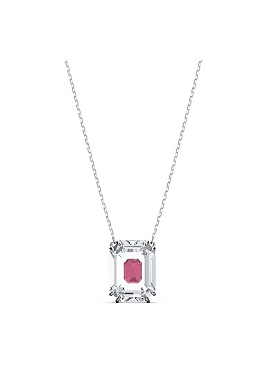 Swarovski Chroma Necklace, Pink, Rhodium Plated