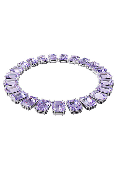 Swarovski Millenia Necklace, Octagon Cut Crystals, Purple, Rhodium Plated