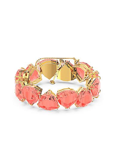 Swarovski Millenia Bracelet, Triangle Cut Crystals, Orange, Gold-Tone Plated