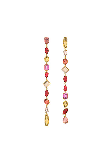 Swarovski Gema Drop Earrings, Extra Long, Multicolored, Gold-Tone Plated, Pair