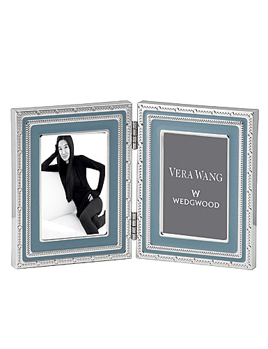 "Vera Wang Wedgwood With Love 2x3"" Folding Picture Frame, Dusk"