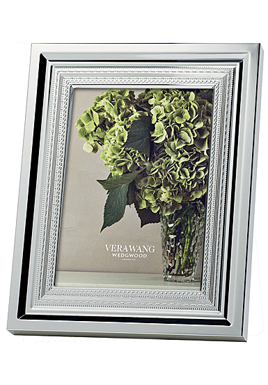 """Vera Wang Wedgwood With Love Silver 5x7"""" Picture Frame"""
