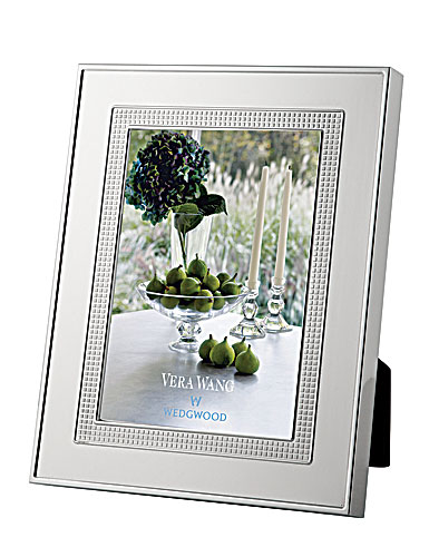 Wedgwood Vera Wang Silver Plate Blanc sur Blanc Frames