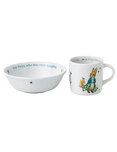 Wedgwood China Peter Rabbit Boy's 2 Piece Set