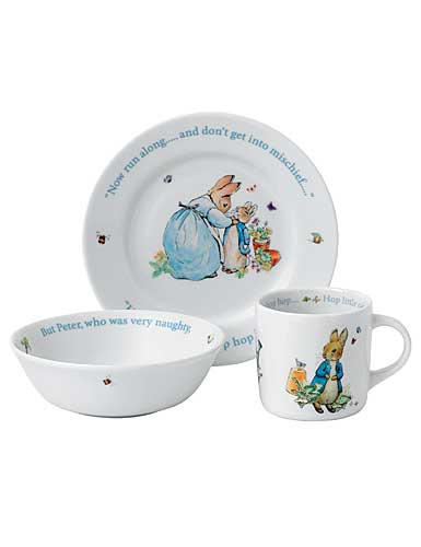 Wedgwood China Peter Rabbit Boy's 3 Piece Set