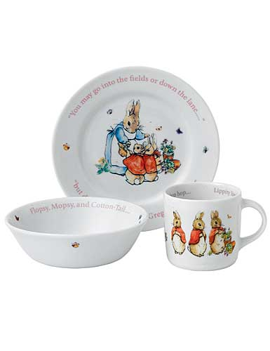 Wedgwood China Peter Rabbit Girl's 3 Piece Set