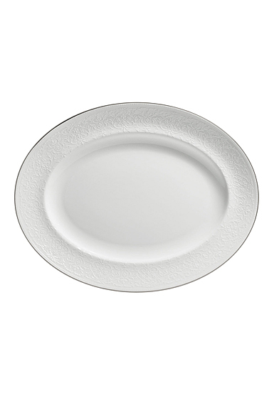 "Wedgwood English Lace Oval Platter 13.75"""