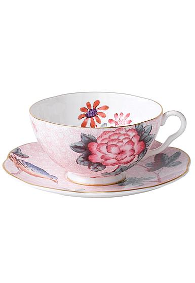 Wedgwood Cuckoo Teacup and Saucer Set Pink