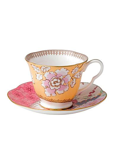 Wedgwood Butterfly Bloom Teacup and Saucer Set Floral Bouquet