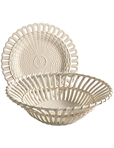 Wedgwood China and Bentley Queensware Twig Fruit Basket With Stand