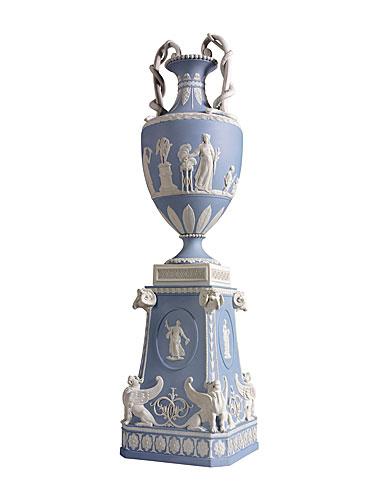 Wedgwood & Bentley Blues Snake Handled Vase