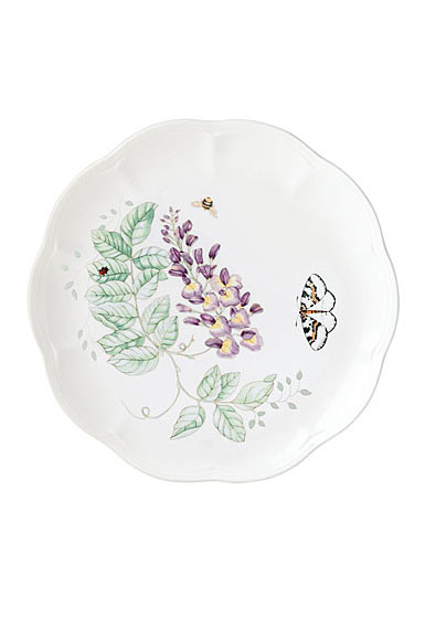 Lenox Butterfly Meadow Dinnerware Blue Butterlfy Accent Plate 9""