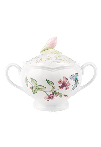 Lenox Butterfly Meadow Dinnerware Sugar With Lid