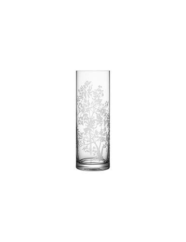 Orrefors Crystal, Organic Cylinder Crystal Vase