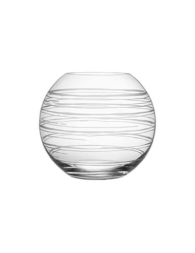 Orrefors Crystal, Graphic Round Vase, Large
