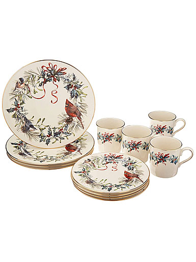 Lenox Winter Greetings China 12 Piece Set
