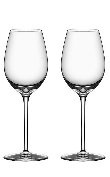 Orrefors Premier Chardonnay Wine Glasses, Pair