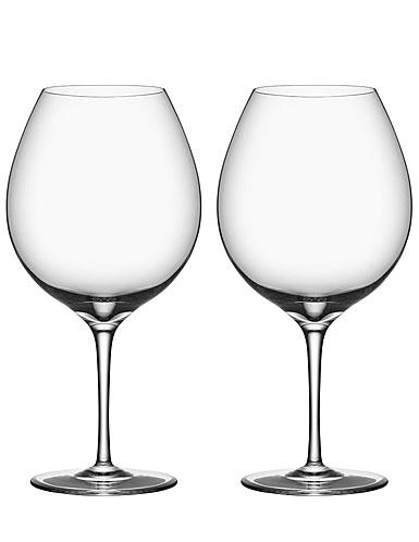 Orrefors Premier Pinot Noir Wine Glasses, Pair