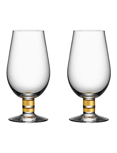 Orrefors Crystal, Morberg Exclusive Crystal Beer Glass, Pair