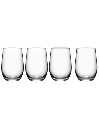 Orrefors Crystal, Morberg Tumbler, Set of Four