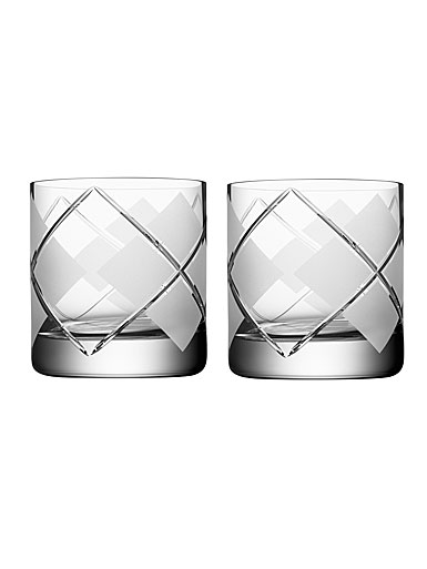 Orrefors Crystal Argyle OF Tumbler, Pair