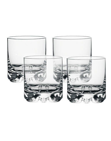 Orrefors Crystal, Erik Crystal DOF Tumbler, Set of Four