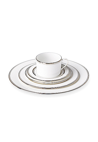 Kate Spade China by Lenox, Library Lane Platinum, 5 Piece Place Setting