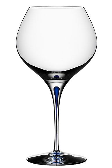 Orrefors Crystal Intermezzo Blue Bouquet Glass, Single