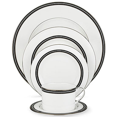 Lenox China kate spade Library Lane Platinum, 5 Piece Place Setting