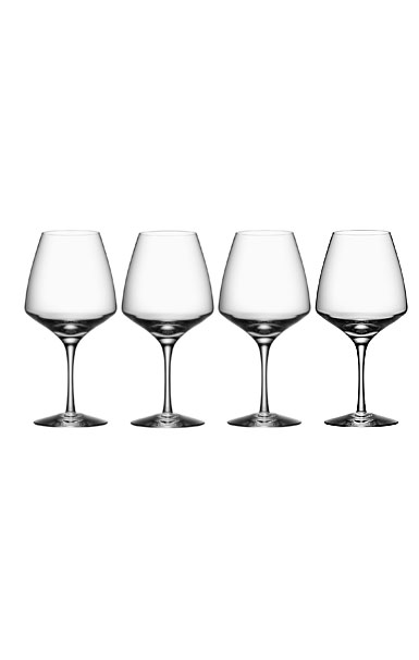 Orrefors Crystal, Pulse Crystal Wine Glasses, Set of Four
