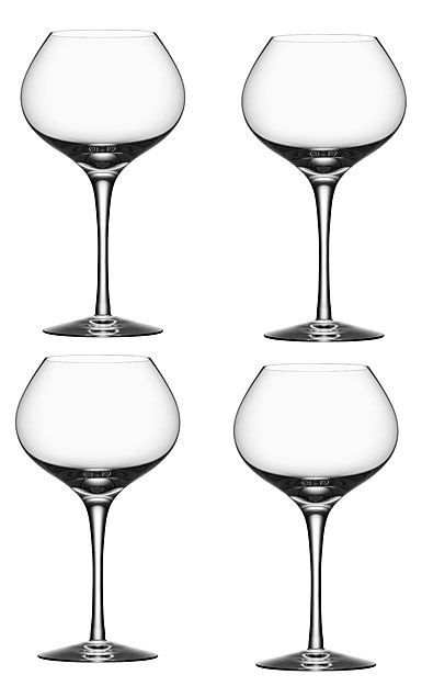 Orrefors More, Mature Wine Glasses Set of Four