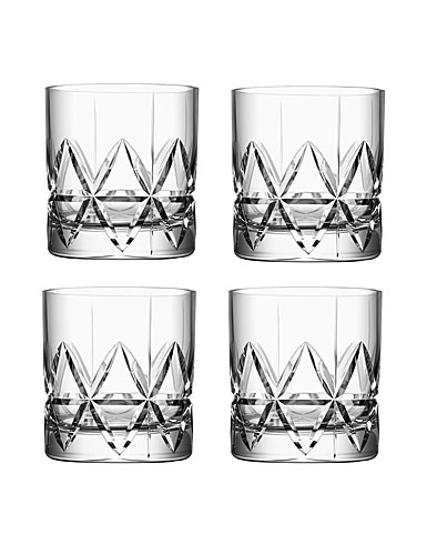 Orrefors Crystal, Peak Crystal DOF Tumbler, Set of Four